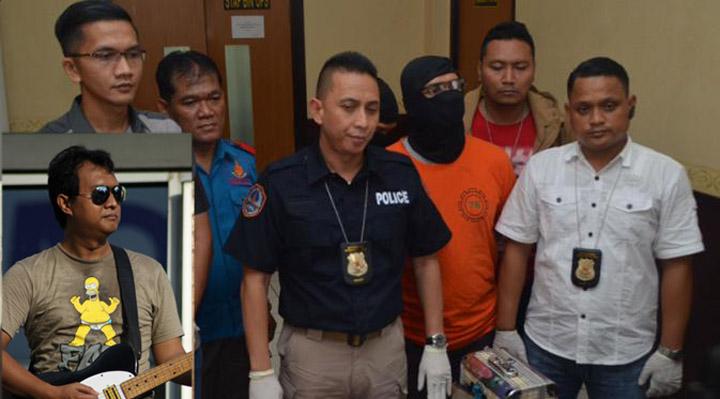 Jumpa Pers Kepolisian Jakarta Selatan untuk Mengungkapkan Identitas Personil Padi yang Terjerat Narkoba