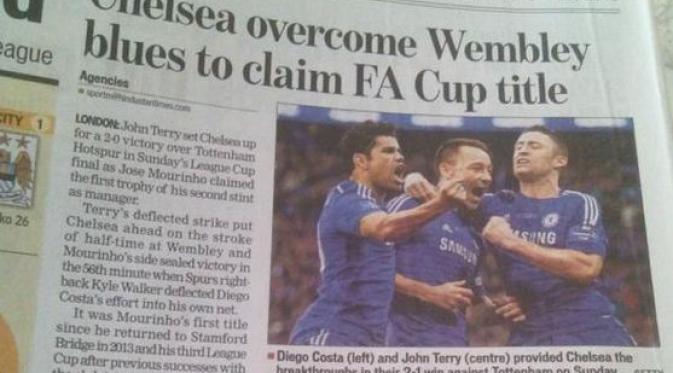 """Berbagai Media """"Mabuk"""" India: Tulis Chelsea Menang 2-1 di FA Cup"""