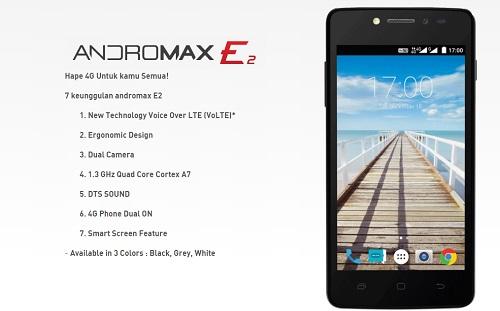 Hape Smartfren 4G Andromax E2 Tahun 2016
