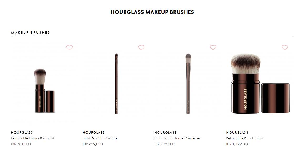 Berbagai Macam Jenis Make Brush dari Hourglass yang Ada di Bobobobo.com