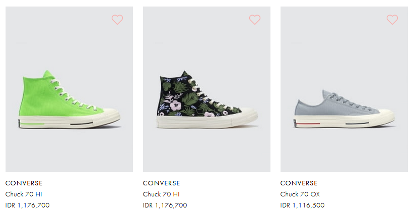 Harga sepatu Converse Terbaik